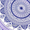 Single Twin White Purple Mandala Ombre Wall Hanging Tapestry Bedspread Beach Boho Bohemian Indian Throw 6