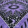 Single Twin Purple Hippie Indian Mandala Sun And Moon Tapestry Wall Hanging Picnic Bohemian Boho 4