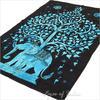 Single Twin Blue Indian Hippie Mandala Elephant Tree Of Life Tapestry Wall Hanging Picnic Bohemian Boho 2