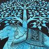 Single Twin Blue Indian Hippie Mandala Elephant Tree Of Life Tapestry Wall Hanging Picnic Bohemian Boho 4