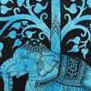 Single Twin Blue Indian Hippie Mandala Elephant Tree Of Life Tapestry Wall Hanging Picnic Bohemian Boho 5