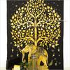 Single Twin Brown Indian Hippie Mandala Elephant Tree Of Life Tapestry Bedspread Beach Dorm Bohemian Boho 1