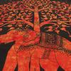 Single Twin Orange Hippie Indian Mandala Elephant Tree Of Life Tapestry Hanging Picnic Bohemian Accent Boho Chic Handmade 4