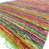 "Green Decorative Colorful Chindi Woven Area Bohemian Boho Rag Rug - 5 X 8"" 1"