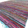 "Blue Decorative Colorful Boho Chindi Woven Area Rag Rug - 5 X 8"" 1"