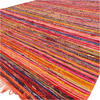 "Orange Decorative Colorful Chindi Boho Woven Bohemian Area Rag Rug - 5 X 8"" 1"