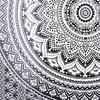 Black White Mandala Wall Hanging Ombre Tapestry Bedspread Beach-Twin/Queen 6