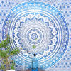 Blue White Ombre Mandala Wall Hanging Tapestry Bedspread Beach Bohemian-Twin/Queen 4