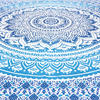 Blue White Ombre Mandala Wall Hanging Tapestry Bedspread Beach Bohemian-Twin/Queen 5