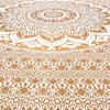 Brown White Mandala Ombre Wall Hanging Tapestry Bedspread Beach-Twin/Queen 4