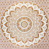 Brown White Mandala Ombre Wall Hanging Tapestry Bedspread Beach-Twin/Queen 5