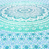 Green White Ombre Mandala Wall Hanging Tapestry Bedspread Beach-Twin/Queen 5