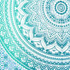 Green White Ombre Mandala Wall Hanging Tapestry Bedspread Beach-Twin/Queen 6