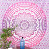 Pink White Ombre Mandala Wall Hanging Tapestry Bedspread Bohemian Boho-Twin/Queen 3
