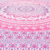 Pink White Ombre Mandala Wall Hanging Tapestry Bedspread Bohemian Boho-Twin/Queen 5