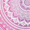 Pink White Ombre Mandala Wall Hanging Tapestry Bedspread Bohemian Boho-Twin/Queen 6