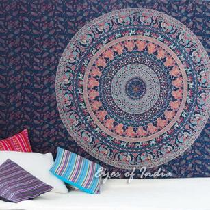 Blue Hippie Mandala Tapestry Wall Hanging Picnic Bohemian Dorm Boho Small/Large, Twin/Queen