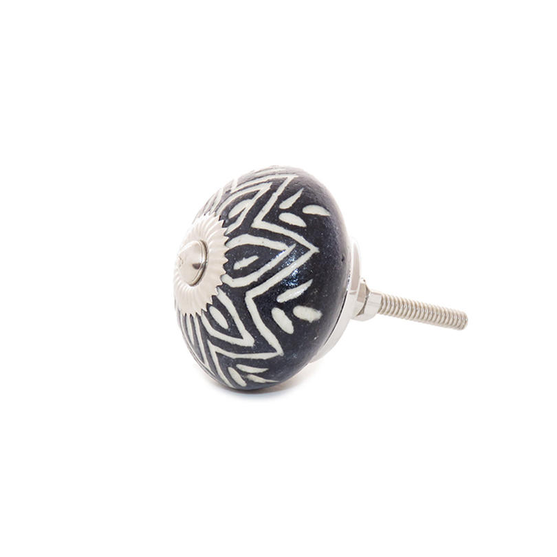 Black Door Dresser Cupboard Ceramic Knobs Pulls Shabby Chic Decorative Colorful