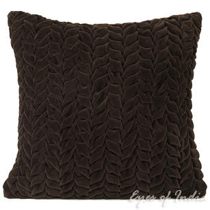 "16"" Brown Velvet Colorful Decorative Throw Sofa Couch Pillow Cover Cushion Boho"