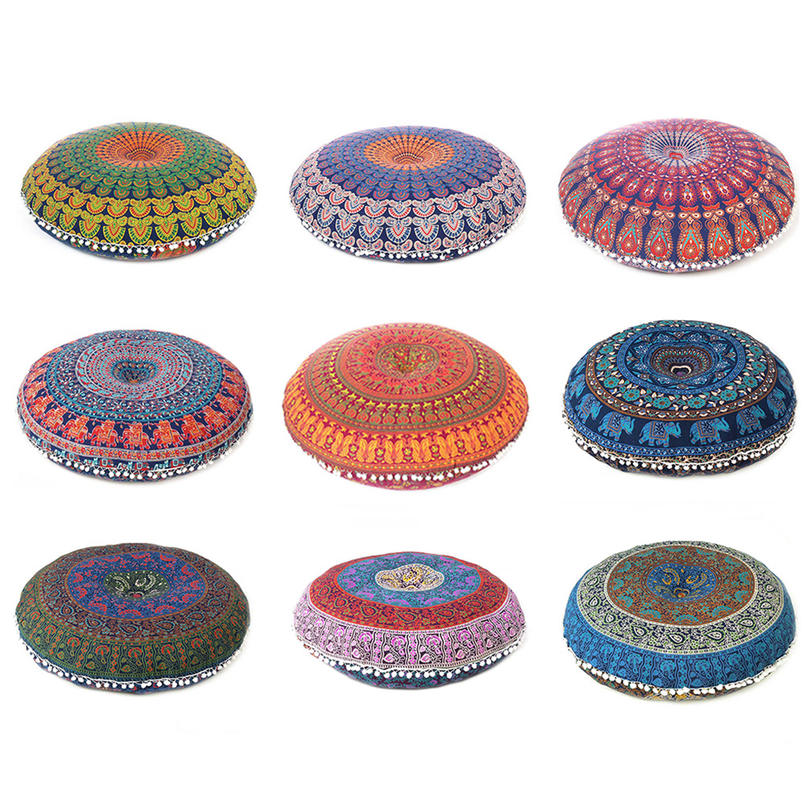 "32"" Colorful Round Floor Meditation Pillow Cushion Seating Throw Cover Mandala H"