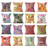 Colorful Patchwork Decorative Pillow Couch Cushion Cover Case Sofa Throw Indian Bohemian Accent Colorful Boho Chic Handmade 1