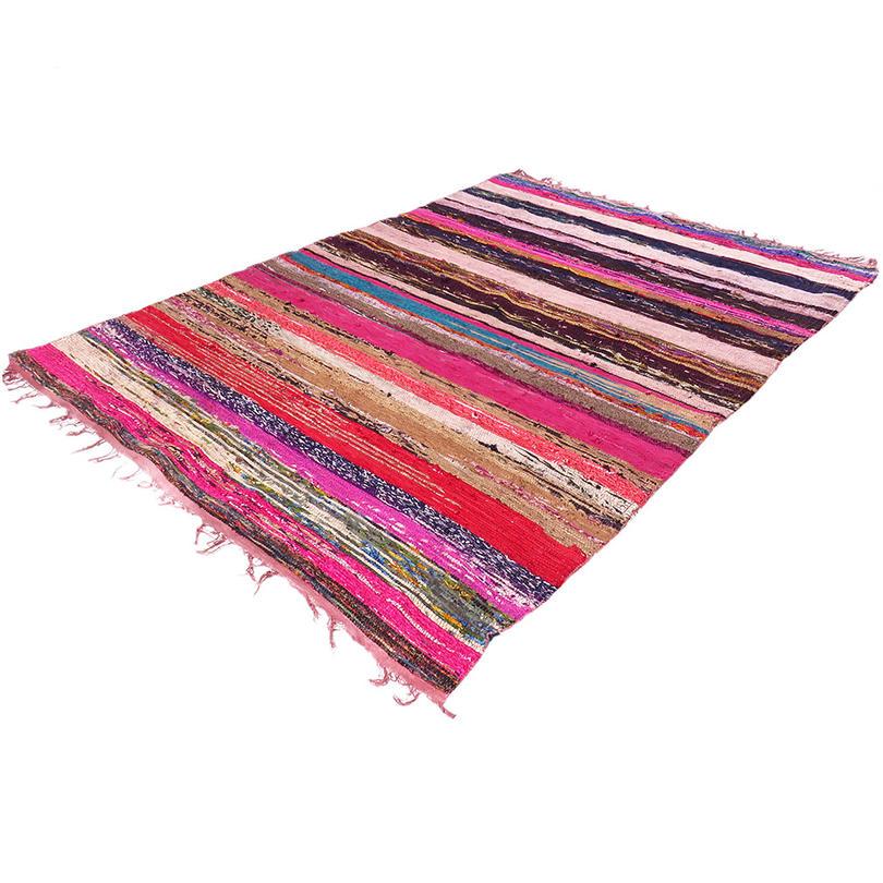 Colorful Brown Decorative Woven Area Rag Rug Chindi Bohemian Boho - 5 X 8 ft