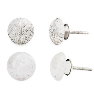 Silver Dresser Cabinet Cupboard Door Knobs Pulls Shabby Chic Decorative Boho Bohemian Accent Handmade