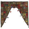Colorful Patchwork Window Door Valance Toran Wall Hanging Indian Bohemian Accent Boho Chic Handmade 1