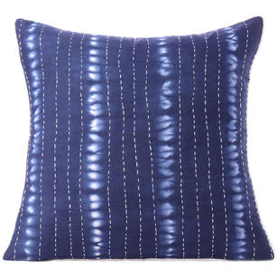 Indigo Blue Kantha Cushion Shibori Couch Pillow Throw Cover Sofa Bohemian Colorful Decorative Boho - 16 to 24""