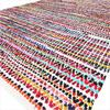 White Decorative Colorful Woven Chindi Multicolor Rug Rag Bohemian Boho Indian 1