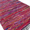 Purple Decorative Colorful Woven Chindi Bohemian Boho Rag Rug - 3 X 5 ft 1