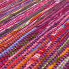 Purple Decorative Colorful Woven Chindi Bohemian Boho Rag Rug - 3 X 5 ft 4
