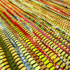 Yellow Colorful Decorative Woven Chindi Bohemian Boho Rag Rug - 3 X 5 ft 5