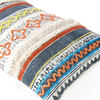 "Orange Blue Decorative Fringe Tassel Pillow Cotton Cushion Couch Sofa Throw Bohemian Colorful Boho Cover  - 16 X 24"" 4"