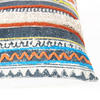 "Orange Blue Decorative Fringe Tassel Pillow Cotton Cushion Couch Sofa Throw Bohemian Colorful Boho Cover  - 16 X 24"" 5"