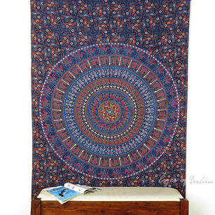 Hippie Mandala Elephant Tapestry Boho Wall Hanging Bedspread - Small/Twin