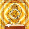 Large Queen Orange Indian Elephant Mandala Ganesha Tapestry Bedspread Beach Dorm 1
