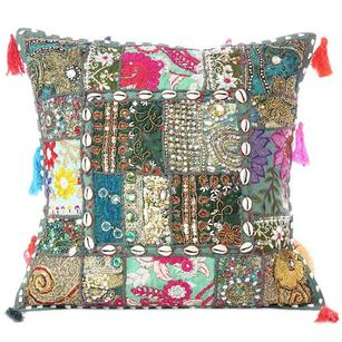 Green Patchwork Colorful Decorative Sofa Couch Pillow Cover Case Cushion Throw B