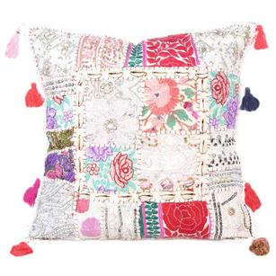 White Patchwork Decorative Pillow Couch Cushion Cover Case Sofa Throw Bohemian A