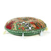 Green Handmade Patchwork Round Colorful Decorative Meditation Cushion Seating Bohemian Floor Pillow Cover 1