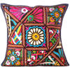 Black Patchwork Colorful Decorative Couch Cushion Throw Boho Bohemian Sofa Pillow Cover 1
