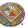 Black Round Colorful Decorative Patchwork Meditation Throw Bohemian Boho Floor Pillow Cushion Cover 1
