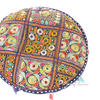 Blue Round Floor Meditation Pillow Cushion Throw Bohemian Boho Colorful Cover 1
