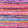 Pink Chindi Rag Rug Decorative Pillow Throw Sofa Cushion Cover Case Couch Bohemian Accent Indian Colorful Boho Chic Handmade 4