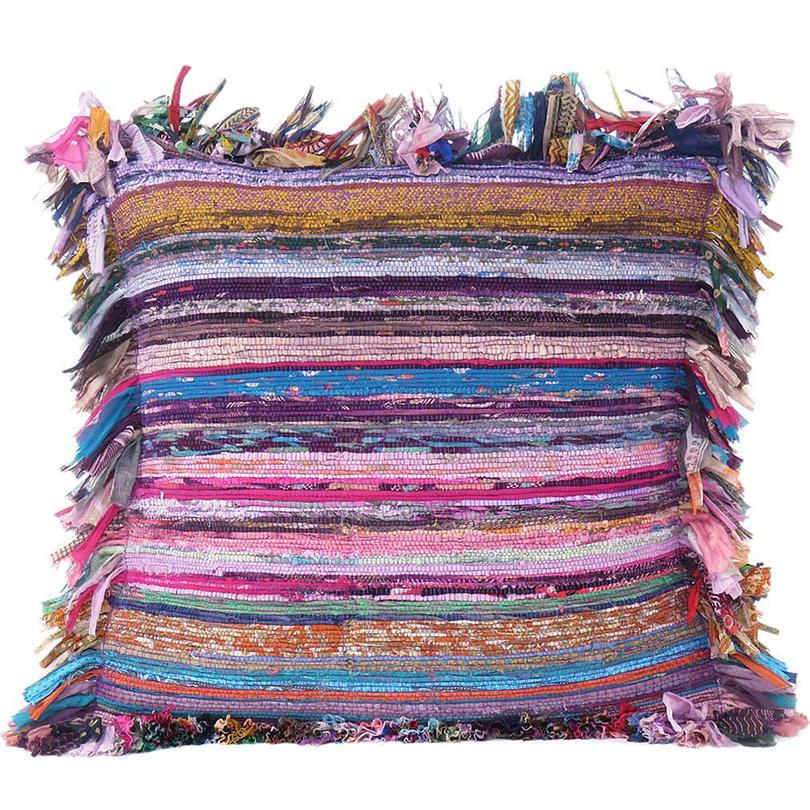 Purple Chindi Sofa Throw Couch Boho Bohemian Pillow Cushion Cover