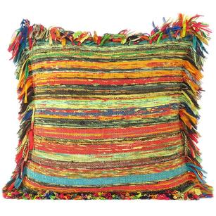 Yellow Decorative Chindi Cushion Bohemian Boho Sofa Throw Couch Pillow Cover