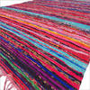 Brown Colorful Woven Boho Decorative Chindi Rag Rug 1