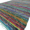 Green Woven Bohemian Decorative Boho Chindi Colorful Rag Rug 1