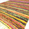 Yellow Decorative Chindi Bohemian Boho Colorful Woven Rag Rug 1