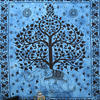 Large Queen Blue Indian Hippie Mandala Elephant Tree Life Tapestry Bedspread Bea 2